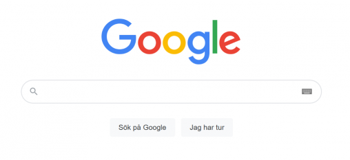 google sökfönster